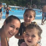 At the wave pool