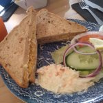 Doorstep sized crab salad sandwich - was huge but so nice I managed to fit it all in!
