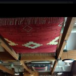 This is one of the beautiful Zapotec rugs displayed at the restaurant.