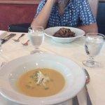 Soup du jour and vermicelli