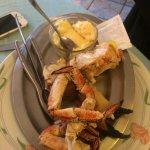 une entrée : demi crabe