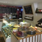 View of the Counter and the homemade cakes and slices