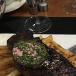 Steak wine and butter sauce