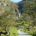 The reward at the end - the Aber Falls in gorgeous countryside