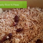 Tasty Rice N Peas made with Coconut Milk