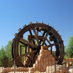 la roue à eau pour les chercheurs d'or