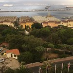 View over Naval Base from our balcony.