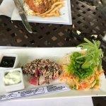 Ahi salad and Burger