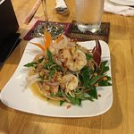The prawn salad