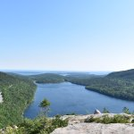 View of Jordan Pond from Bubble Rock