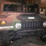 A military vehicle.