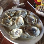 Aftermath of Oysters Rockefeller at Black Pearl Oyster Bary & Grill, Galveston, TX