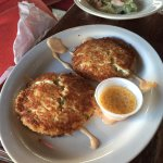 Crab & shrimp cakes at Black Oyster Bary & Grill, Galveston, TX