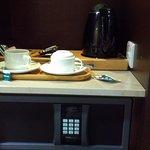 Free safe, tea/coffee