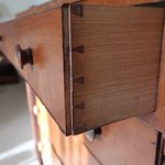 The dresser had handmade dovetails in the drawers!