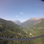 View from the cable car in Vaujany