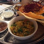 The Goan fish and mussel thali.