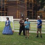 Lincoln Era actors teaching period games