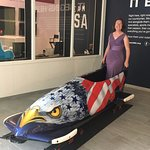 One of the bobsleds