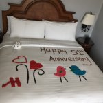 This is one of the RICE art that she did for our anniversary ( it was on a separate sheet so we