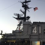 Conference party on the USS Midway