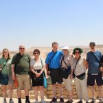 Members of our tour and Eli (right), our guide/driver at the Ramon Crater in the Negev, Israel.