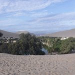 View of Huacachina from the Sand Dunes!!