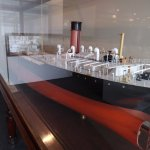 Model ships in the ship building exhibit