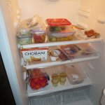 Lots of room to store all your supplies in the full sized fridge