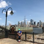 My friend and her son, and the view of NY: The Freedom Tower One World Trade Center