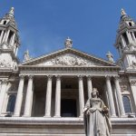 Queen Anne's statue, St. Paul's Cathedral, London