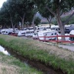 Crowded campground.