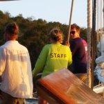 The crew (L-R: Chris, Amelia, Davis)
