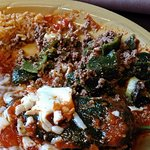 Chile Rellenos - watery mystery beef, where's the cheese?