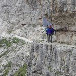 Via Ferrata near Tre Cime. No rope on this section.