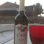 Muscatine City Harbor, Cavit Merlot from Salvatore's