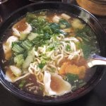Sopa de fideos con wan tan