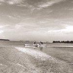 Kayaking in the lagoon