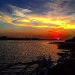 Sunset along the lagoon
