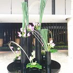 Stunning floral arrangements in the foyer