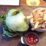 Lettuce burger was fun to eat!