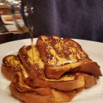 French toast, home fries, egg bacon and cheese on challah