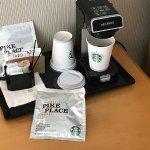 In-room Starbucks coffee - including a good decaff