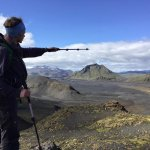 Iceland guide Mike, showing us where we were going to be hiking, and talking about the landscape
