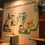 Noodle shop wall near Dorsett Shanghai Hotel