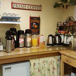 Coffee, Tea, Juice and Hot Water ... available throughout the day!