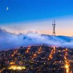 SF Fog over twin peaks