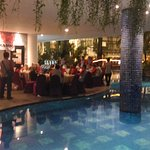 Gathering Session in pool side resto