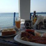 Breakfast at the beach.
