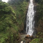 Path of trek and waterfalls